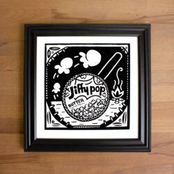 Jiffy Pop Print in Black frame