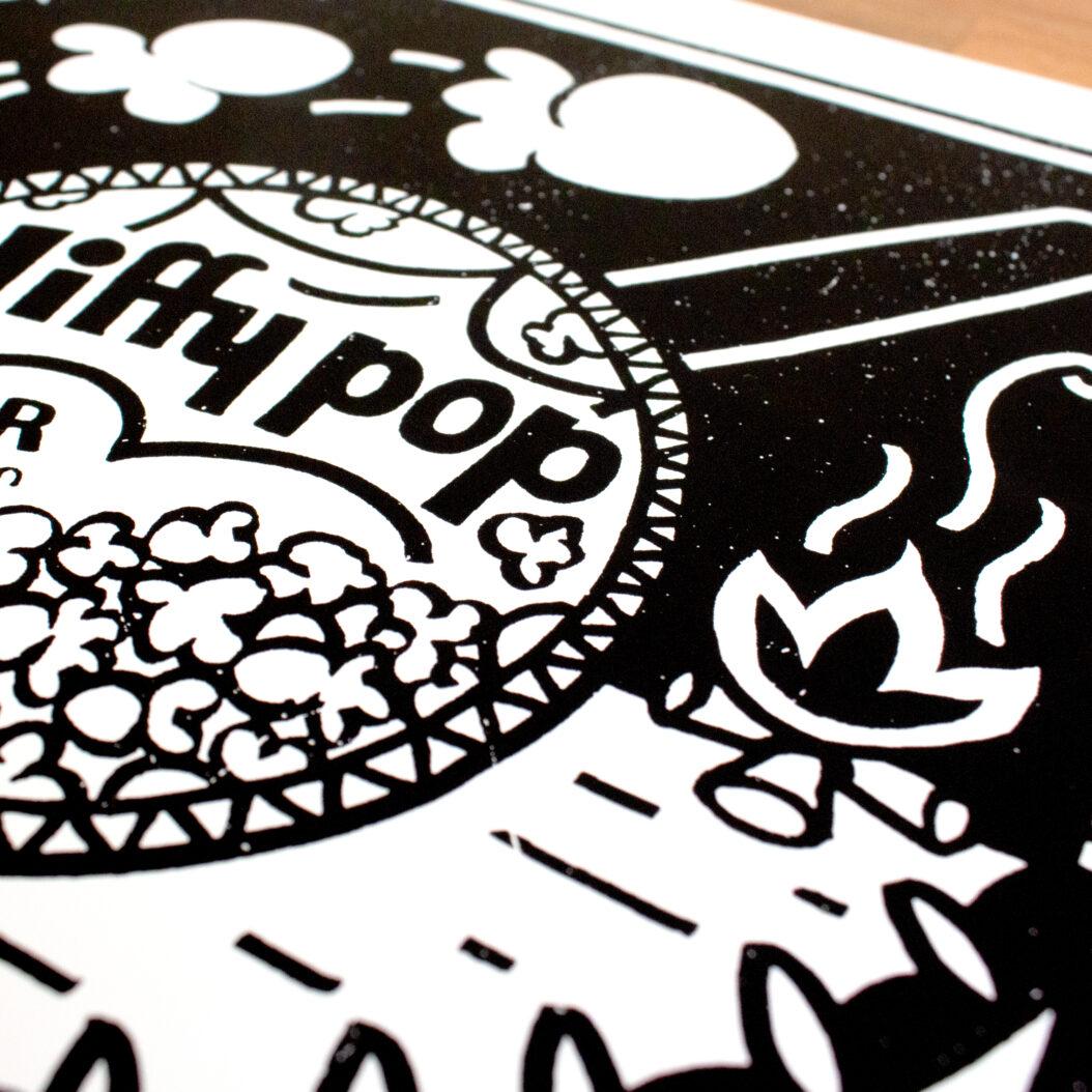 Detail of jiffy print