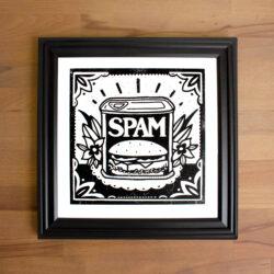 Spam Screen Print in Black frame