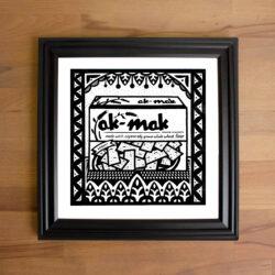 A framed Print featuring ak-mak crackers.
